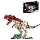 WWEI Dinosaurier Spielzeuge Bausteine mit Licht, Ceratosaurus Dinosaurier Serie für Kinder, 2016 Teile Klemmbausteine Kompatibel mit Lego Jurassic Dinosaurier