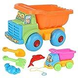 Jxfrice Strandspielzeug für Kinder, 6 Stück, Sandspielzeug mit kleiner Sandschaufel, Sommer-Strandspiele für Kleinkinder und Kinder