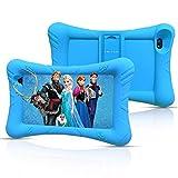 Pritom Kids Tablet, 32 GB ROM, Quad-Core-Prozessor, HD IPS-Display, 7-Zoll-WLAN-Android-Tablet, Kindersicherung, Tablet für Kinder (Blue)