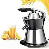 Elektrischer 160W Zitruspresse Mit Leisem Motor Orangenpresse Edelstahl Zitrone Limette Grapefruit Kaltpresse, Anti-Tropf-Ausgießer, BPA-Frei, Organisch Gepresst