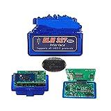 UGUTER ELM 327. Bluetooth V1.5 ELM327 PIC18F25K80. Auto-Diagnosewerkzeug doppelt PCB ELM 327 Scanner ELM327 1.5 Code-Reader (Farbe : Blue 2PCB)
