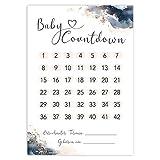 Baby Countdown DIN A4 Kalender Poster - SSW Rechner, Tage bis zur Geburt, Geschenk für werdende Mama (Golden Glamour Splash)