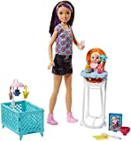 Mattel Barbie FHY98 'Skipper Babysitters Inc.' Puppen und Hochstuhl Spielset (brünett)