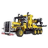 xSuper Technik Road Trailer Truck Building Block,1250+Pcs Tow Truck Model Bricks Kit Building Blocks MOC Set,Kompatibel mit Lego Technics