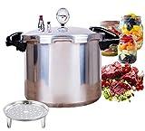 schnellkochtopf 22 liter groß multifunktion manometer anzeige pressure cooker aluminium mit dampfer dampfkochtopf schnell familie kommerziell sicherheit gas gewidmet deutscher spot
