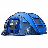 ZHHL Automatisches Outdoor-Zelt Schnelle Kontoeröffnung 3-4 Personen Camping Outdoor-Zubehör Wesentliches Zelt Erwachsenes Großes Wandern Camping Kinderzelt Blue