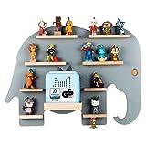 BOARTI das Original Kinder Regal Elefant in Grau TÜV/GS-Zertifiziert - geeignet für die Toniebox und ca. 38 Tonies - zum Spielen und Sammeln