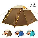 ZOMAKE Leicht Trekkingzelt für 2 Personen Wasserdicht,3-4 Saison Camping Zelt für Trekking,Outdoor,Festival (Schmuck blau/Neu)