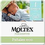 Moltex Pure & Nature Ökologische Windeln Größe 1 (2-5 kg) - 88 Windeln