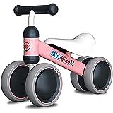 YGJT Kinder Laufrad ab 1 Jahr   Fahrrad Spielzeug für 10 - 24 Monate Junglen und Mädchen   Rutschrad Baby Geschenk für Ersten Geburtstag Neu Jahr (Pink)