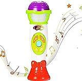 ThinkMax Mikrofon Spielzeug, Sprachwechsel und Mikrofon Aufnahme, pädagogische frühen Kinder Musik Spielzeug (Grün)