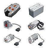 Hedi Technik Power Functions, Technik motoren Set, Technik Batteriebox Set, 6 Teile Kompatibel mit Lego Technic