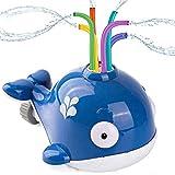 Wassersprinkler Spielzeug für Kinder, Sprinkler Kinder Spielzeug, Walwassersprinkler Spielzeug, Kinder Sommer Wassersprühsprinkler mit Wackelröhren für Hinterhof, Rasen, Spielen im Freien, Garten