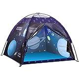 Exqline Spielzelt Kinderzelt, Kinder Tragbarer Astronaut Space Theme Pop Up Zelt Kinder für Jungen Mädchen Indoor- und Outdoor-Spiel- und Campingzelt, Geschenk für Kinder, 120x120x110 cm