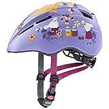 Uvex Unisex Jugend, kid 2 cc Fahrradhelm, lilac mouse mat, 46-52 cm