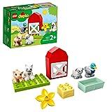 LEGO 10949 DUPLO Tierpflege auf dem Bauernhof Kleinkinder Spielzeug ab 2 Jahren mit Figuren: Ente, Schwein, Schaf und Katze