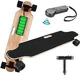 Elektrisches Skateboard Longboard E Komplettboard Elektrisches City Skateboards Elektrolongboard mit Fernbedienung und 250W Motor | Reichweite 10 km, Max. Geschwindigkeit 20km/h