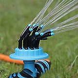 Garten Sprinkler, fasloyu 360 Grad Rotierende Rasensprenger, Bewässerungssystem Automatische Gartensprinkler, Rasensprinkler Hof, Rasensprenger Sprenger mit Verstellbarer Sprinklerkopf für Rasen