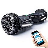 BLUEWHEEL 6,5' Premium Offroad-Hoverboard | App-kompatibel + Bluetooth Lautsprecher & LED Leuchte Self Balance Board + Safety Mode für Kinder | Premium-Akku & Dual Motor | HX380