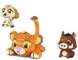 QSSQ 1856Pcs + Cartoon-Serie Der König Der Löwen Micro Building Blocks, Tierfiguren Diamant 3D-Modell Mini-Ziegel-Spielzeug Für Kinder