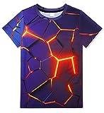 kids4ever Cooles T-Shirt für Junioren Jungen Mädchen Lustige 3D Bunte Geometrie Drucken Kurzarm Tee Shirts Sommer Beiläufig Hawaiisch Urlaub T Shirts