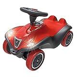 BIG-Bobby-Car Next - Deluxe Variante, Kinderfahrzeug mit LED-Front Scheinwerfer, Flüsterreifen und weichem Sitz, belastbar bis zu 50kg, Rutschfahrzeug für Kinder ab 1 Jahr, rot