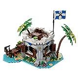 IPOT Modular Haus Baustein Satz, MOC-80308, 841 Teile Kaiserliche Kanonenbucht Bausteine Modell Bausatz Kompatibel mit Lego Pirates of Barracuda Bay 21322