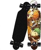 Komplettes Skateboard Mini Cruiser 31 X 8 Zoll 9 Schichten kanadisches Ahorn ABEC-7 Lager für Anfänger Teens Jungen und Mädchen Vierrad Anime Skateboard