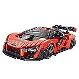 Sugeren Technic Auto Rennwagen für McLaren Senna, Sportwagen Bausatz, Exklusives Rennwagen Spielzeug für Kinder Erwachsene, 1182 Teile Klemmbausteine Kompatibel mit Lego Speed Champions 75892