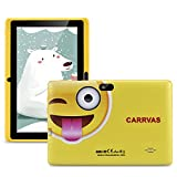 CARRVAS Kinder Tablet 7 Zoll Pad WiFi Android Tablet für Kinder 1 GB RAM + 16 GB ROM Vorinstalliertes Iwawa, Elternkontrollerziehung Tablets mit Lernspiel Apps, Kindersicher (Gelbes Tablet für Kinder)