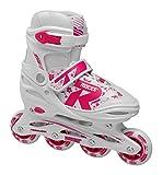 Roces Mädchen Jokey 2.0 Girl Inline-Skates, White-pink-Violet, 26-29