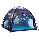 Kinderzelt Spielzelt, Exqline Galaxis Themenzelt Universum Pop-up Zelt Tragbare Faltbare, Campingzelt mit tragbarer Tasche, Spielhaus für Innen und Außen, Geschenk für Kinder (Voyager 2)