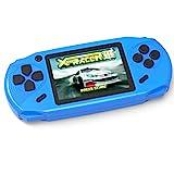 Bornkid 16 Bit Handheld Spielekonsole für Kinder und Erwachsene mit Integriertem 100 HD Videospiel 3,0 Zoll Seniors Electronic Handheld Spiele Jungen Mädchen Geburtstags Geschenk (Blau)