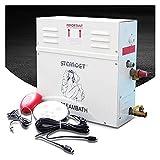 ASPZQ Dampfgenerator 220V/380V Dampfmaschine for Zu Hause Saunabad SPA Dampfdusche 3KW-9KW Nebelmaschine Mit Digitaler Steuerung (Size : 6.0kw)