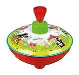 Lena tin Toys 52449 - Brummkreisel Ø13 cm Der kleine Maulwurf, Metall Kreisel, Schwungkreisel aus Blech, klassischer Pumpkreisel, Blechkreisel mit Spitze, Spielzeugkreisel für Kinder ab 18 Monate