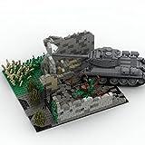 GUDA Militär Szenen Bausteine,771 Teile WW2 Series Militärszenen Schlachtruinen Architekturmodell Bausteine Set,Kompatibel mit Lego - (Keine Panzer)