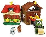 Dickie Toys 203818000 Happy Farm House, Abenteuer auf dem Bauernhof, Set für Kinder ab 1 Jahr, Traktor, mit Tieren, Licht & Sound