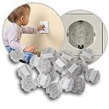 reer 3246.920 Steckdosen-Schutz zum Kleben, 20 Stück, transparent, das Original vom Erfinder