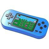 Bornkid Handheld Spielekonsole für Kinder und Seniors mit Integriertem 218 Videospiel 2,5 Zoll Wiederaufladbar Electronic Handheld Spiele hat 3,5 MM Kopfhörerbuchse (Blau)