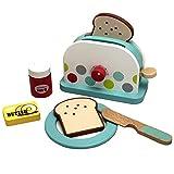 HUIJK Spielzeug Toaster Holz Doppelschlitztoaster Zubehör Kaufmannsladen Spielküche