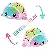 Niedliche doppelseitige Octopus Turtle reversibles Plüschtier, Mood Flip Stuffed Toy Plüsch, kreative Spielzeuggeschenke (Regenbogenschildkröte)