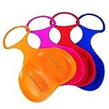 Generic 4 x Schneeflitzer zum Rodeln Schneerutscher Schlitten für Kinder ganze Familie - Farbe: Zufällig (4 Stück - Glider)
