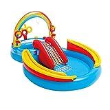 Exuberia Aufblasbare Wasserrutsche Für Pool Aufblasbar Rutsche Pool Aufblasbare Wasserrutsche Planschbecken Wasserpark Mit Rutsche Aufblasbares Spielzentrum Poolrutschen Spaßbad Für Kinder