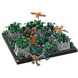 SENG Jurassic Szene Bausatz, MOC-35453, 1336 Teile Modular Szene Klemmbausteine Architektur, Kompatibel mit Lego(Kein Dinosaurier)