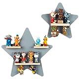 BOARTI das Original Kinder Regal Sammelset Sterne in Grau - geeignet für ca. 22 Tonies - zum Spielen und Sammeln
