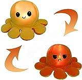 KUNSTIFY Leuchtendes Plüschtier LED Oktopus Stimmungs Oktopus Kuscheltier Octopus Plüschtier für Mädchen Frauen Kinder um Laune auszudrücken Geschenk für Freundin (Gelb/Orange)