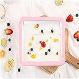 JYDQB Mini Eismaschine Cartoon Gebratene Eismaschine Gebratene Joghurt Maschine Pan Home Rührjoghurt Maschine mit gebratener Eisschaufel
