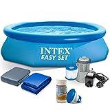 Global 7in1 Schwimmbecken Gartenpool mit Pumpe Pool 305 x 76cm mit Zubehör INTEX 28120