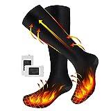 Beheizte Socken,MIBABO Wiederaufladbare Elektrische Batterie Socken für Männer Frau, Skisocken Elektrischer Fußwärmer Heizsocken mit 3 Wärmeeinstellungen für Outdoor Camping Angeln Radfahren Skifahren