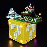 Halcyon LED-Beleuchtungs-Kit für Lego 71395 Super Mario Question Mark, LED-Licht-Set Kompatibel mit Lego 71395 (nur LED enthalten, kein Lego-Kit) - Klassische Version
